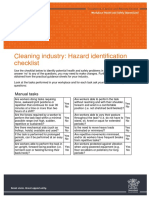 Hazard Identification Checklist Cleaning
