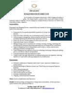 Job Advertisement - HR Director (1)