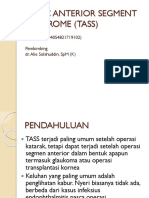 Toxic Anterior Segment Syndrome (Tass)
