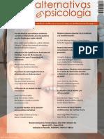Alternativas en Psicología. Número 33 - Agosto 2015 - Enero 2016