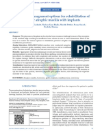 A review of management options for rehabilitation of posterior atrophic maxilla with implants