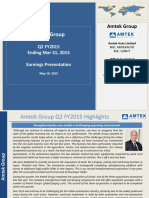 Amtek Q2 FY2015 Earnings Presentation