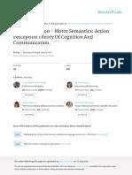 Motor Cognition Motor Semantics