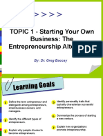 Topic 1 Starting Your Business