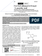 Synthesis of 2,3 O,O Dibenzyl 6 O Tosyl L Ascorbic Acid