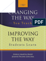 Changing the Way You Teach Improving the Way Students Learn