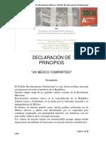Propuesta Principios Básicos Rumbo XXII Asamblea PRI 2017 Ayax M Landa