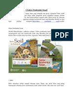 5 Faktor Pembentuk Tanah
