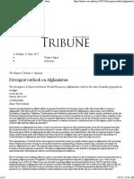 Divergent Outlook on Afghanistan-Express Tribune