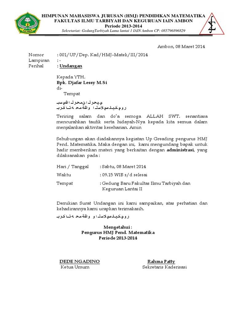 28++ Surat undangan mubes information