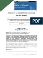 Bulletin 3 Gestion de Classe Mai 2010