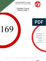 Beginner Lesson #169 - Disaster Dril 1