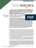 Large Area Molybdenum Disulphide- Epitaxial Graphene Vertical Van Der Waals Heterostructures