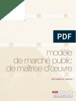 Modèle de Marché Public de Maîtrise d'Oeuvre - Neuf - Novembre 2011