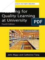 Teaching for Quality Learning at University - Chapter 4