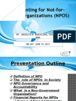 1. Accounting for NPOs
