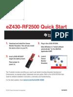 EZ430-RF2500 Quick Start
