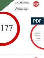 Beginner Lesson #177 - B3  The Meet 1