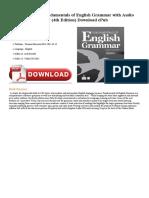 Fundamentals of English