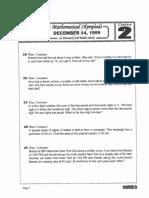 M.O.E.M.S Practice Packet 1999 (Des)