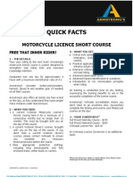 ADEADV1038 - Quick Facts & T&C - Motorcycle Licence Short Course