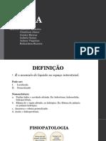 Semiologia e Fisiopatologia Do Edema