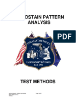 Bloodstain Pattern Analysis Test Method