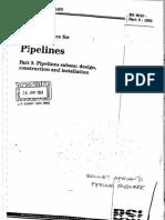 BS 8010 Part 3 1993 Code of Practice for Pipeline