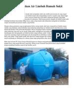 Instalasi Pengolahan Air Limbah Rumah Sakit Up