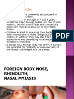 Foreign Bodies in the Nose
