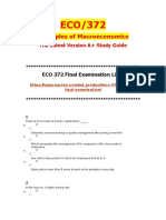 ECO 372 Final Exam Guide