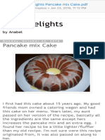 Oven Delights Pancake Mix Cake