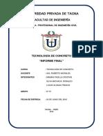 Tecnologia de Cocnreto Informe Final