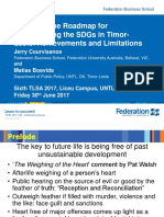 Presentation by Jerry Courvisanos and Matias Boavida on the Timorese government's Roadmap for implementing the Sustainable Development Goals