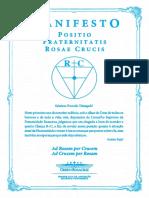 Livreto_manifesto Positio Fraternitatis 2012_PDF