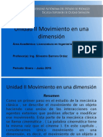 Movimiento en Una Dimension