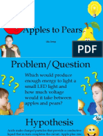 apples to pears science fair project
