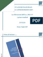 Pubblicazione prove Invalsi 2017