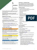 Garmin 2.1 Liter High Performance Pump Kit Owners Manual