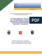 TRABAJO Diplomado Salud Mental Emergencias, Desastres y Catastrofes Dic 2011_DVera_VFigueroa_LHormazabal