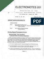 Electronotes 201