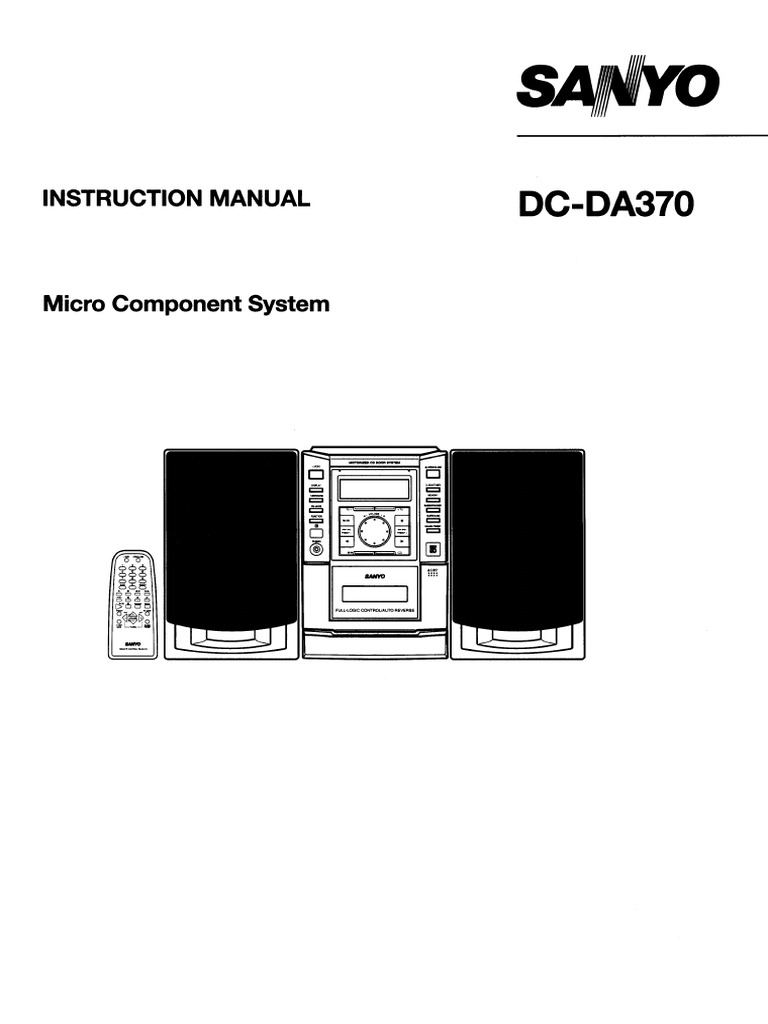 Sanyo Micro Component System Dc