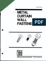 Metal Curtain Wall Fasteners (AAMA TIR-A9-1991)