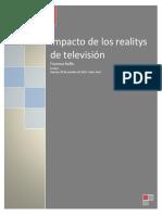 Ensayo Realitys de Televisión