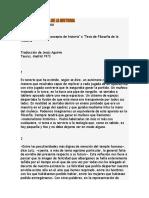 Tesis de Filsoofia de La Historia Benjamin