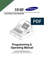Sam4s ER-5115 40 Program & Operation Manual