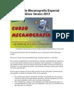 Curso de Mecanografía Especial Niños Verano 2013