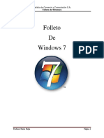 Folleto de Windows 7