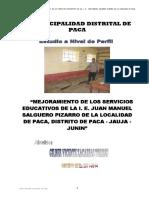 mejoramiento de Los Servicios Educativos SALGUERO PIZARRO