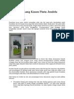 Cara Memasang Kusen Pintu Jendela Alumunium
